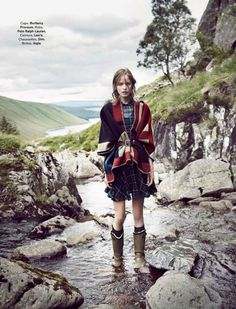 Country Lady | Glamour France November 2014 | Alexandra Hochguertel by Fred Meylan #fashioneditorials #Burberry