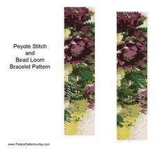 Hellebores 2 Bead Loom or Peyote Stitch Bracelet by PalacePatterns