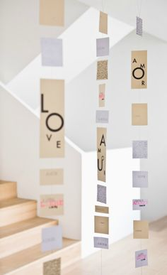 typography word garland