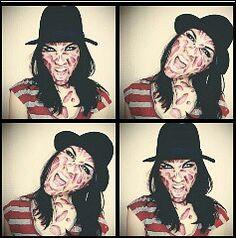 Miss Freddie mask make up
