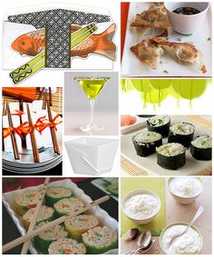 Sushi Dinner Party by finestationery, via Flickr