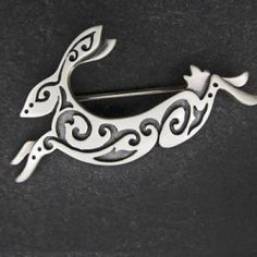 silver hare brooch - Julia Thompson