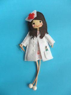 enfermeras de fieltro patrones - Buscar con Google