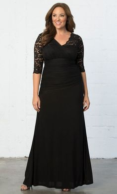 7ebefb1fd9e Kiyonna Plus Size Dress Size 3X Black Lace Gown Soiree Style Formal Maxi  Party