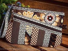 Fabric Handbags, Fabric Bags, Patchwork Bags, Quilted Bag, Diy Bags Patterns, Unique Handbags, Denim Bag, Zipper Bags, Small Bags