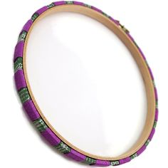 Purple And Gray Decorative Earring Holder, Wood Wall Hoop Decor