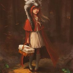 Little Red🐺 littleredridinghood onceuponatime fairytales scarytales littlered wolf intothewoods Scary Tales, John William Waterhouse, Greek And Roman Mythology, Red Riding Hood, Nymph, Little Red, Cool Girl, Art Drawings, Princess Zelda