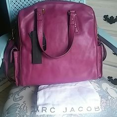 ✨Sale✨Marc by Marc Jacobs satchel crossbody purse NWT gorgeous genuine Italian leather perfect for all your things! Can be carried as satchel or crossbody.  The color is raspberry/purple. Comes with dustbag. No trades. Reasonable offers considered. Marc by Marc Jacobs Bags Satchels