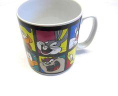 Vintage Extra Large Looney Tunes Mug Warner by sweetie2sweetie, $15.99