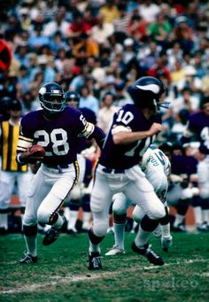 Ahmad Rashad #28 - Rashad had a 10-year NFL career with 3 franchises but spent more seasons (7) with the Vikings than any other team. He totaled 400 receptions for 5,489 yards and 34 TDs in 98 games during his Vikings career. Rashad played in 7 postseason games for the Vikings, including Super Bowl XI against the Oakland Raiders.