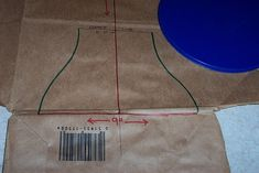 These are the supplies that you need to draft a diaper pattern:  Paper grocery bag, ruler/yard stick, pencil, eraser, sharpie marker,  and s...