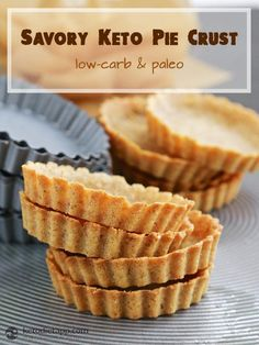 Savory Keto Pie Crust (gluten-free, low-carb, paleo, dairy-free) - only 5 ingredients and so easy to make!
