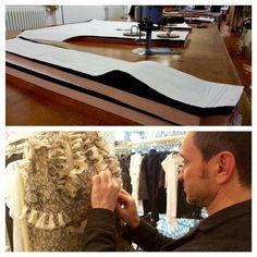Il viaggio di un abito..                       #oggi#studio modellistico#Mauro Effe by Mauro Franchi www.maurofranchi.com