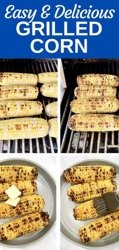 This recipe for grilled corn is easy and created the most delicious corn! Grilled corn adds wonderful flavor and texture to our favorite foods. In Basics by The BakerMama, I teach you how to grill corn to perfection every time! Mama Recipe, Make Ahead Lunches, Brunch Recipes, Delicious Desserts, Grilling, Sweet Treats, Favorite Recipes, Foods, Texture