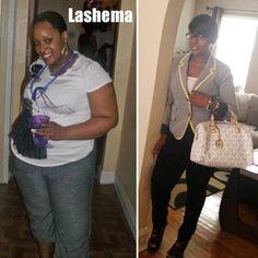 Lashema lost 66 pounds | Black Weight Loss Success