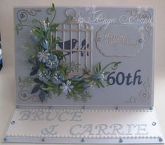 PENNY FLOWERS: 60th Wedding Anniversary card