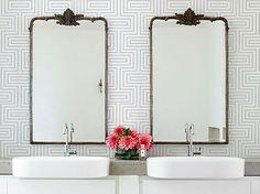Death to the double sink - Justine Hugh Jones Double Sinks/Remodelista Bad Inspiration, Bathroom Inspiration, Interior Inspiration, Bathroom Ideas, Modern Bathroom, Feminine Bathroom, Bathroom Vintage, Home Staging, Home Design