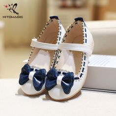 HITOMAGIC Girls Leather Shoes For Party Children Shoes Girls Wedding  Princess Dance Bow Tie Children s Footwear 070d42443bcb