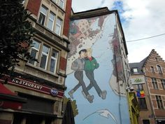 Comic en las paredes de Bruselas