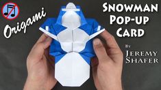 Origami Snowman Pop-up Card (No Music)