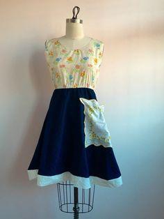Fremont Dress Navy Blue Blue dress floral by loveletterclothing Eyelet Dress, Navy Blue Dresses, Fashion Sewing, Summer Dresses, Trending Outfits, Floral, Vintage, Etsy, Summer Sundresses