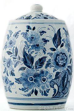Delft blue Cookie Jar....of great value.