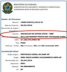 Bonner também não mostrou seu próprio DARF. | Os Amigos do Presidente Lula