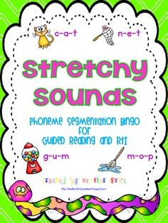 Stretchy Sounds Bingo is the perfect activity for your Guided Reading and RtI groups. Stretchy Snake will help your young readers with phoneme segmentation which is a crucial skill for beginning readers learning to decode words