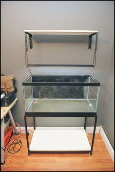 Marineland LED Light Hanging Tutorial - The Planted Tank Forum Aquarium Stand, Aquarium Led, Aquarium Setup, Saltwater Aquarium, Aquarium Filter, Aquarium Ideas, Freshwater Aquarium, Aquarium Lighting, Cool Ideas