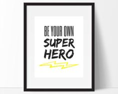 Personalised Lightning Bolt Name Door Decal Superhero Mask Wall - Superhero wall decalssuper hero wall art etsy