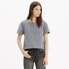 51edd4a5 A sophisticated take on a T-shirt style, this cropped top is extra special
