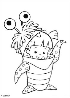 Monsters Inc Boo Coloring Page
