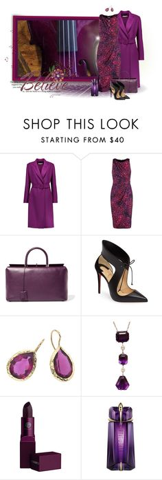 """Plum"" by loveroses123 ❤ liked on Polyvore featuring Oscar de la Renta, Badgley Mischka, Tom Ford, Christian Louboutin, Music Notes, Lipstick Queen and Thierry Mugler"
