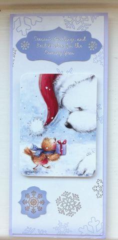 Hunkydory Christmas card - robin and polar bear :)