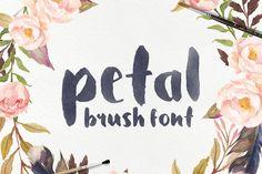 The Petal Brush Font