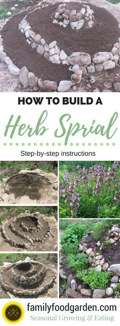 Small Backyard Garden Herb Spiral: Step-by-step Instructions for how to build one.Small Backyard Garden Herb Spiral: Step-by-step Instructions for how to build one Herb Spiral, Spiral Garden, Garden Steps, Spiral Tree, Best Herbs To Grow, Growing Herbs, Culture D'herbes, Herb Garden Design, Pot Jardin