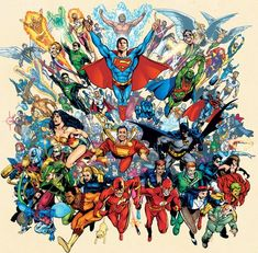 Justice League Original Members of America - Bing images Arte Dc Comics, Marvel Comics, Heros Comics, Dc Comics Superheroes, Dc Comics Characters, Dc Heroes, Comic Book Heroes, Comic Books Art, Comic Art