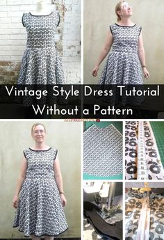 Vintage Style Dress Tutorial Without a Pattern