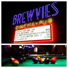 Brewvies is one of the coolest places to catch a movie, for a great price, too. Order a cocktail and some of their tasty eats and bring it right into the theatre with you! They also host free nights for TV shows like Sons of Anarchy! Always a good time, always a great vibe.