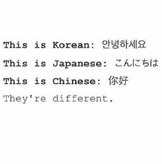 When people say that they sound alike.... I don't understand how they can't hear the difference?! It's a major difference, I mean it's 3 different languages