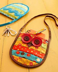 Arte com Tecidos : Bolsinha corujinha. O PAP é de mini-bolsinha com sinhaninha…