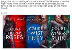 The tattoo on the cover of acomaf is the bargain tattoo on her left hand. The tattoo on ACOWAR cover is her high lady tattoo on her right hand A Court Of Wings And Ruin, A Court Of Mist And Fury, Sara J Maas, Crown Of Midnight, Empire Of Storms, Sarah J Maas Books, Rhysand, Throne Of Glass Series, Crescent City