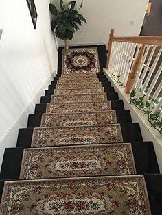 OctoRose Acrylic Non Slip Stair Runner Rug Stair Treads Carpet Door Mat  Custom