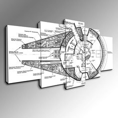 These awesome star wars blueprint posters come in a set of six buy this canvas wall art today and we will ship it to you for free malvernweather Image collections