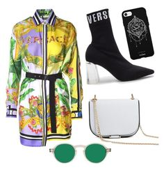 """""""Elėgancê"""" by aimeeindaeyo on Polyvore featuring Versace, Versus, Forever 21 and Fifth & Ninth"""