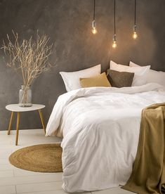 The best affordable sources for life like artificial trees plants wreaths and greenery. Cozy Bedroom, Bedroom Inspo, Master Bedroom, Bedroom Decor, Design Bedroom, Bedroom Ideas, Scandinavian Style Home, New Room, Cozy House