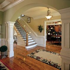 interior decorating for a colonial revival - Google Search oh how I wish we had big openings like this..