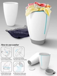 Shaking Wash: Portable Personal Washing Machine for Travelers