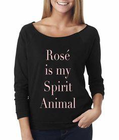 Rose is My Spirit Animal Sweatshirt. Off the Shoulder Sweatshirt. Clothing. Women's Clothing. Off the Shoulder Sweater.