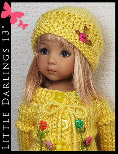 """Summer Outfit for Little Darlings Effner 13"""" by Maggie & Kate Create"""